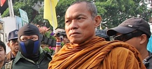 Buddha Issara with his anti-democratic thugs