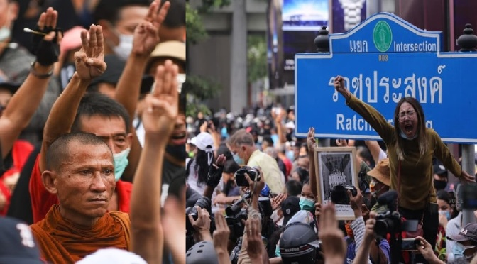 Youth-led movement challenges the Junta and the Monarchy