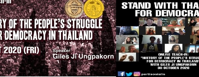 The history of struggle in Thailand